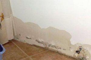 pared empapada por filtración lateral bajo rasante