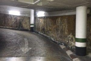 filtración lateral en paredes garaje soterrado