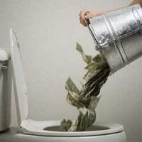 tirar el dinero